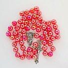 Różaniec kulka opalizowany czerwony