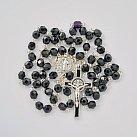 Różaniec kryształkowy z Benedyktem czarny