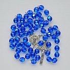 Różaniec kryształkowy duży niebieski wzór nr 2