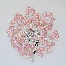 Różaniec kryształkowy jasnoróżowy opalizowany