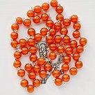 Różaniec kryształkowy ciemnopomarańczowy