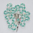 Różaniec kryształkowy zielona nitka