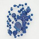 Różaniec plastikowy, z Benedyktem granat