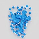 Różaniec plastik, kolor niebieski