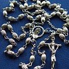 Różaniec srebrny ziarenko ryflowany