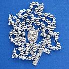 Różaniec srebrny z Matką Boską Częstochowską