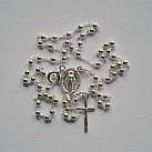 Różaniec srebrny z zapinką 50 cm
