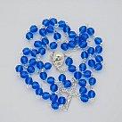 Różaniec kryształ ze srebrem blue