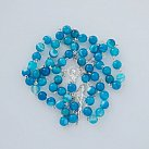 Różaniec srebrny koralik Agat Niebieski