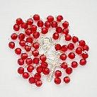 Różaniec kryształ ze srebrem