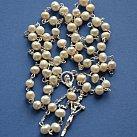 Różaniec perłowy srebrny