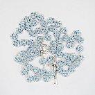 Różaniec z Kryształu Svarowskiego kolor jasnoniebieski