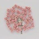 Różaniec Kryształ Svarowskiego różowy