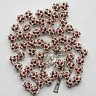 Różaniec z Kryształu Svarowskiego kolor bordowy