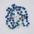 Różaniec Kryształ Svarowskiego Irys niebieski