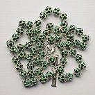Różaniec z Kryształu Svarowskiego kolor zielony