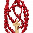Różaniec sznurkowy duży czerwony
