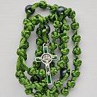 Różaniec sznurkowy Benedykt zielony