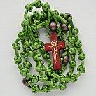 Różaniec sznurkowy zielony koralik