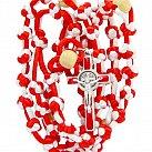 Różaniec sznurkowy Benedykt biało-czerwony