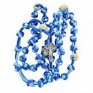 Różaniec sznurkowy Benedykt mix niebieski