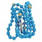 Różaniec sznurkowy Benedykt błękitny