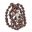 Różaniec sznurkowy Benedykt brązowy
