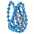 Różaniec sznurkowy niebieski koralik duży wzór 2