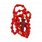 Różaniec sznurkowy czerwony koralik