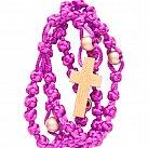 Różaniec sznurkowy fioletowy koralik