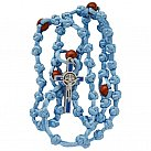 Różaniec sznurkowy Benedykt jasnoniebieski