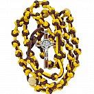 Różaniec sznurkowy żółto-brązowy Benedykt