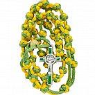 Różaniec sznurkowy Benedykt żółto-zielony