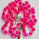 Różaniec z Ziemią Święta, różowy