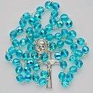 Różaniec z Ziemią Święta, błękitny kryształek
