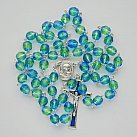 Różaniec z Ziemią Święta, niebiesko-zielony