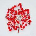Różaniec z Ziemią Święta, czerwony