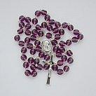 Różaniec z Ziemią Święta, fioletowy wzór 2