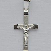 Krzyżyk  diamentowany srebrny większy