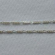 Łańcuszek srebrny splot figaro diamentowany 50 cm