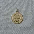 Medalik srebrny św. Benedykta średni