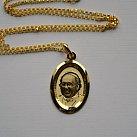 Medalik pozłacany papież Franciszek/ Jezus Miłosierny