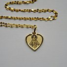 Medalik pozłacany Matka Boska Niepokalana serce