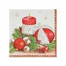 Serwetka Boże Narodzenie, stroik biała