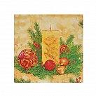 Serwetka Boże Narodzenie świeca żółta