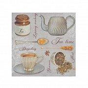 Serwetka dekoracyjna czas na herbatę