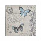 Serwetka dekoracyjna Motyle niebieskie