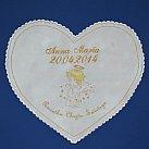 Szatka do Chrztu Świętego z haftem serce, kolor złoty