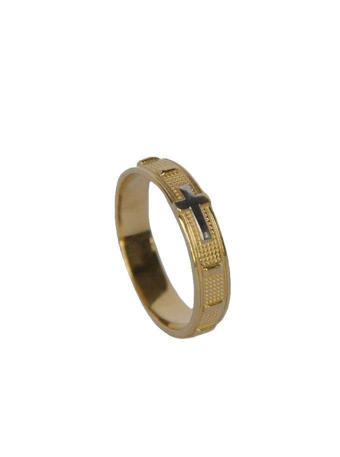 Różaniec na palec obrączka złota wzór 2 - Złoto